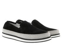 Slip On Suede Sneaker Black Schuhe