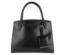 Monochrome Leather Tote Bag Black Tote