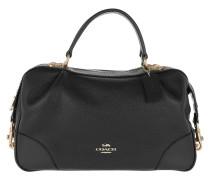 Bowling Bag Polished Leather Lane Satchel Black schwarz
