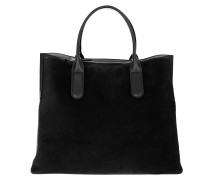Tote Sandy Bimaterial Shopping Bag Noir schwarz