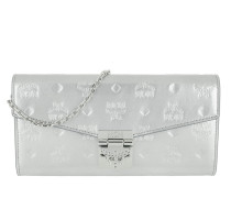 Portemonnaie Patricia Patent Flap Wallet Large Silver silber
