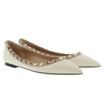 Rockstud Ballerina Light Ivory Powder Ballerinas