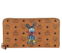 Rabbit Zippered Wallet Large
