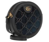 Umhängetasche GG Round Shoulder Bag Velvet Black/Blue schwarz