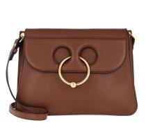 Pierce Medium Shoulder Bag Leather Tan Tasche