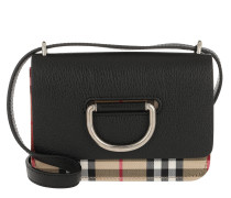Vintage Check D-Ring Bag Mini Leather Black Tasche