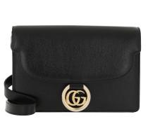 Umhängetasche Small Shoulder Bag Leather Black schwarz
