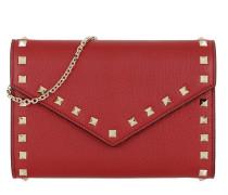 Rockstud Shoulder Bag Leather Rosso Tasche