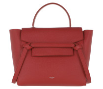 Satchel Bag Micro Belt Bag Grained Leather Red rot