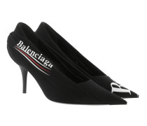 Knife Pumps Draped Fabric Black Pumps