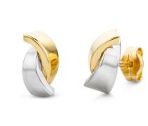 Ohrringe Earring 14KT Bi Color Gold