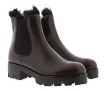 Fury Chelsea Boots Leather Cordovan+Nero Schuhe