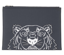 Clutch Large Pouch Anthracite blau