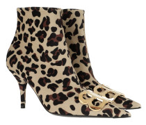 Boots Leopard Print Ankle Boots Leather Beige beige