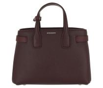 The Small Handle Bag Leather Mahagony Red Satchel Bag