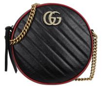 Umhängetasche GG Marmon Mini Round Shoulder Bag Leather Black/Red schwarz