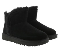 Boots W Classic Mini Fluff High-Low Black schwarz