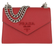 Monochrome Crossbody Bag Medium Red Tasche