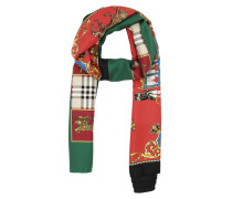 Accessoire Emboridered Silk Scarf Military Red rot