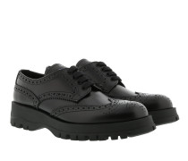Lace-Up Shoes Spazzolato Calf Leather Black Sneakers