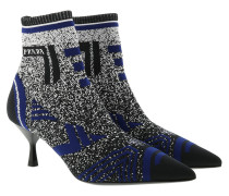 Boots Jacquard Knit Booties Black/Indigo Blue blau