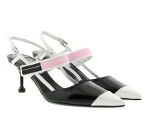 Sling-Back Pumps Nero/Rosa Pumps