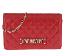 Umhängetasche Quilted Soft Crossbody Bag Red rot