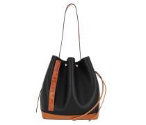 Hobo Bag Drawstring Medium Black schwarz