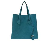 Tote Celene Suede Shoulder Bag Saphir teal-cyan