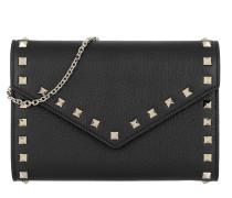 Rockstud Shoulder Bag Leather Black Tasche