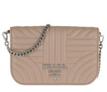 Umhängetasche Quilted Diagramme Nappa Leather Bag Cipria beige
