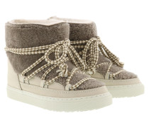 Boots Sneaker Curly Taupe braun