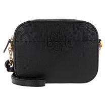 Umhängetasche McGraw Camera Bag Leather Black schwarz