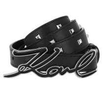 Gürtel Signature Studs Belt Black/Nickel schwarz