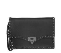 Tasche - Rockstud Clutch Black - in schwarz - Abendtasche für Damen