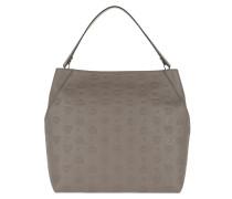 Klara Monogrammed Hobo Large Urban Taupe Bag
