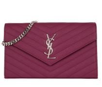 YSL Chain Wallet Monogramme Envelope Dark Pink Tasche