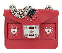 Mila Thunder Hearts Detailed Shoulder Bag Red Tasche