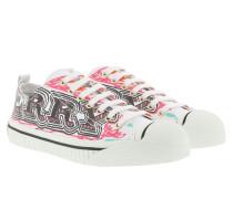 Low Top Sneakers Graffiti Print White