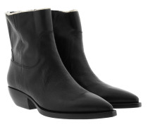 Theo Bootie Leather Black Schuhe
