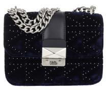 Umhängetasche Quilted Studs Cb Velvet Crossbody Bag Midnight Blue