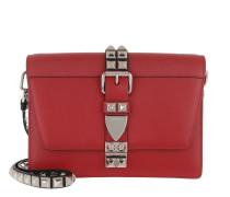 Prada Elektra Calf Leather Bag Fuoco/Nero Tasche