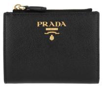 Mini Zip Around Wallet Black Portemonnaie