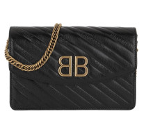 Umhängetasche BB Wallet On Chain Leather Black schwarz