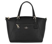 Tote Polished Leather Prairie Satchel Bag Black schwarz