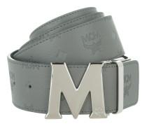 Embossed Logo Flat M Belt Grey 130 cm Gürtel
