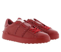 Open Rockstud Untitled Sneakers Red
