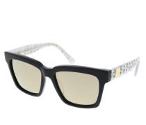 Sonnenbrille MCM646S Navy/Silver Glitter Visetos schwarz
