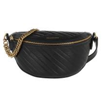 Gürteltasche Souvenir Belt Bag XXS Leather Black/Gold schwarz