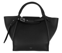 Small Big Bag Grained Calfskin Black Tote